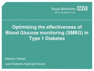 Optimising the effectiveness of  Blood Glucose monitoring (SMBG) in Type 1 Diabetes