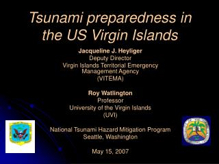 Tsunami preparedness in the US Virgin Islands