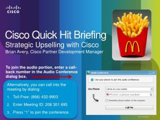 Strategic  Upselling  with Cisco