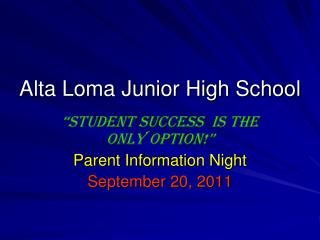 Alta Loma Junior High School