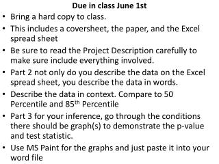 Due in class June 1st