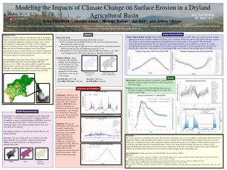 Modeling the Impacts of Climate Change on Surface Erosion in a  Dryland  Agricultural Basin