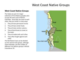 West Coast Native Groups