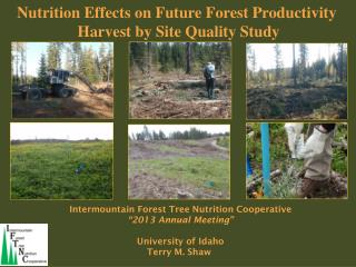 "Intermountain Forest Tree Nutrition Cooperative ""2013 Annual Meeting"" University of Idaho"