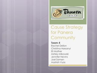 Cause Strategy for Panera Community