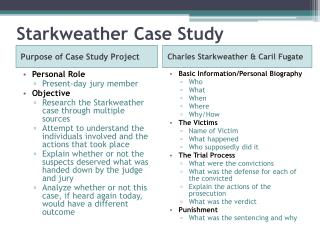 Starkweather  Case Study