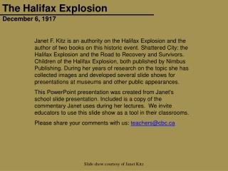 Halifax 2014 Presentation