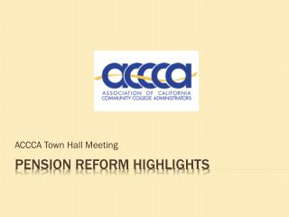 Pension reform highlights