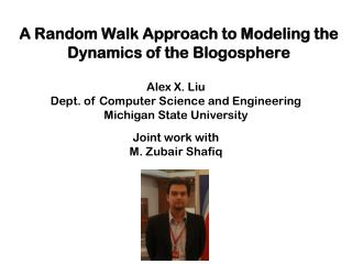 A Random Walk Approach to Modeling the Dynamics of the Blogosphere