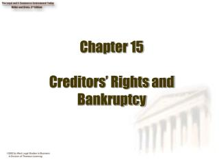 Chapter 15 Creditors' Rights and Bankruptcy