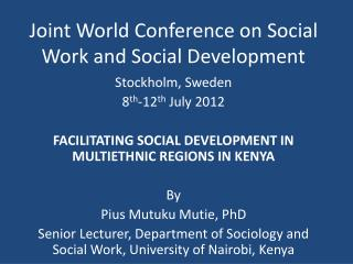 Joint World Conference on Social Work and Social Development