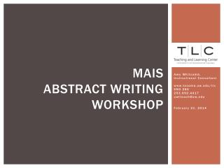 Mais Abstract Writing Workshop