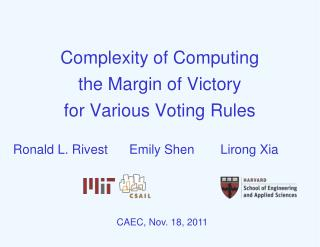 Complexity of Computing  the Margin of Victory for Various Voting Rules