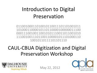 Introduction to Digital Preservation