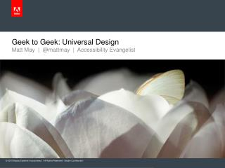 Geek to Geek: Universal Design