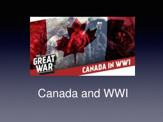 Canada and WWI