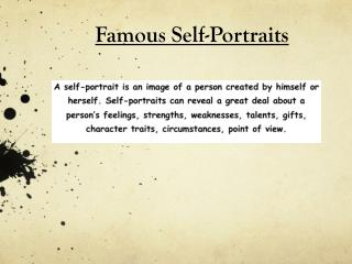 Famous Self-Portraits