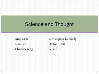 Science and Thought
