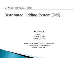 Distributed Bidding System (DBS)