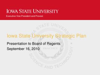 Iowa State University Strategic Plan