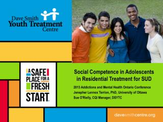 Social Competence in Adolescents in Residential Treatment for SUD