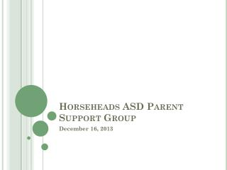 Horseheads ASD Parent Support Group