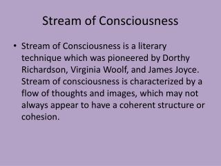 Stream of Consciousness