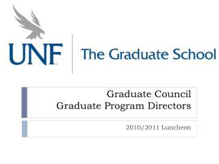Graduate Council Graduate Program Directors