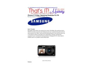 Picture IT Friday-Samsung Dualview PL170 (That's IT Mommy)