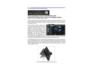 Samsung digital cameras for Fall Winter 2011