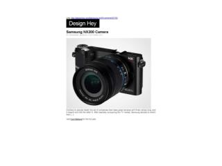 Samsung NX200 Camera (Design Hey)