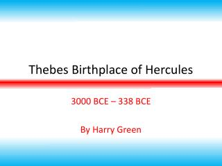 Thebes Birthplace of Hercules