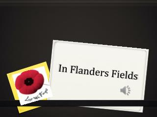 In  F landers Fields
