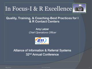 In Focus-I & R Excellence