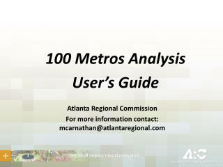100 Metros Analysis User's Guide