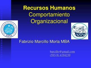 Recursos Humanos Comportamiento Organizacional