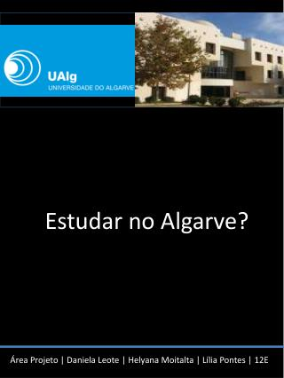 Estudar no Algarve?