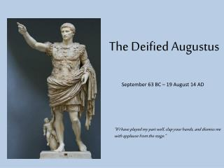 The Deified Augustus