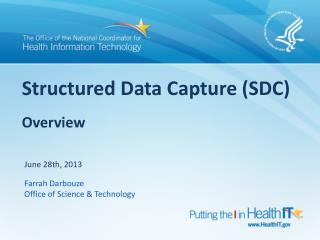 Structured Data Capture (SDC)  Overview