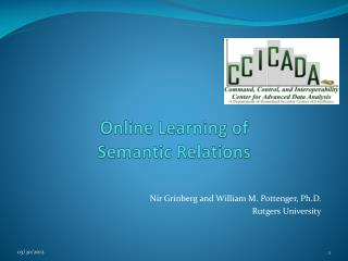 Online Learning of Semantic Relations