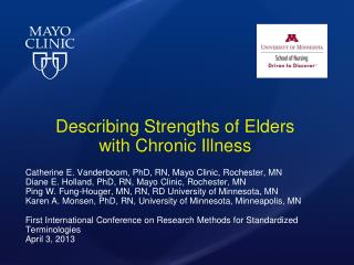 Describing Strengths of  Elders  with  Chronic  Illness