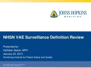NHSN VAE Surveillance Definition Review