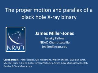 The proper motion and parallax of a black hole X-ray binary