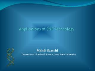 Applications of SNP Technology