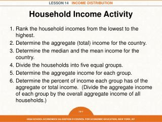 Household Income Activity