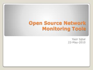 Open Source Network  Monitoring  Tools