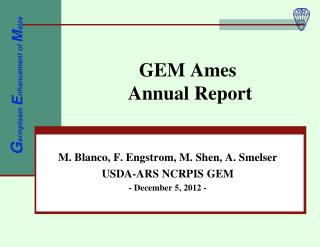 GEM Ames  Annual Report