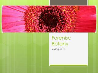 Forenisc Botany