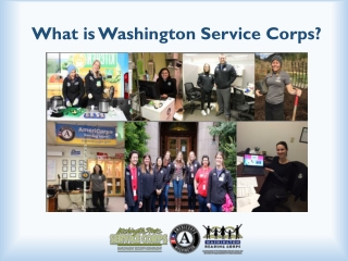 Washington Service Corps childcare information