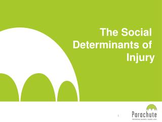 The Social  Determinants of  Injury